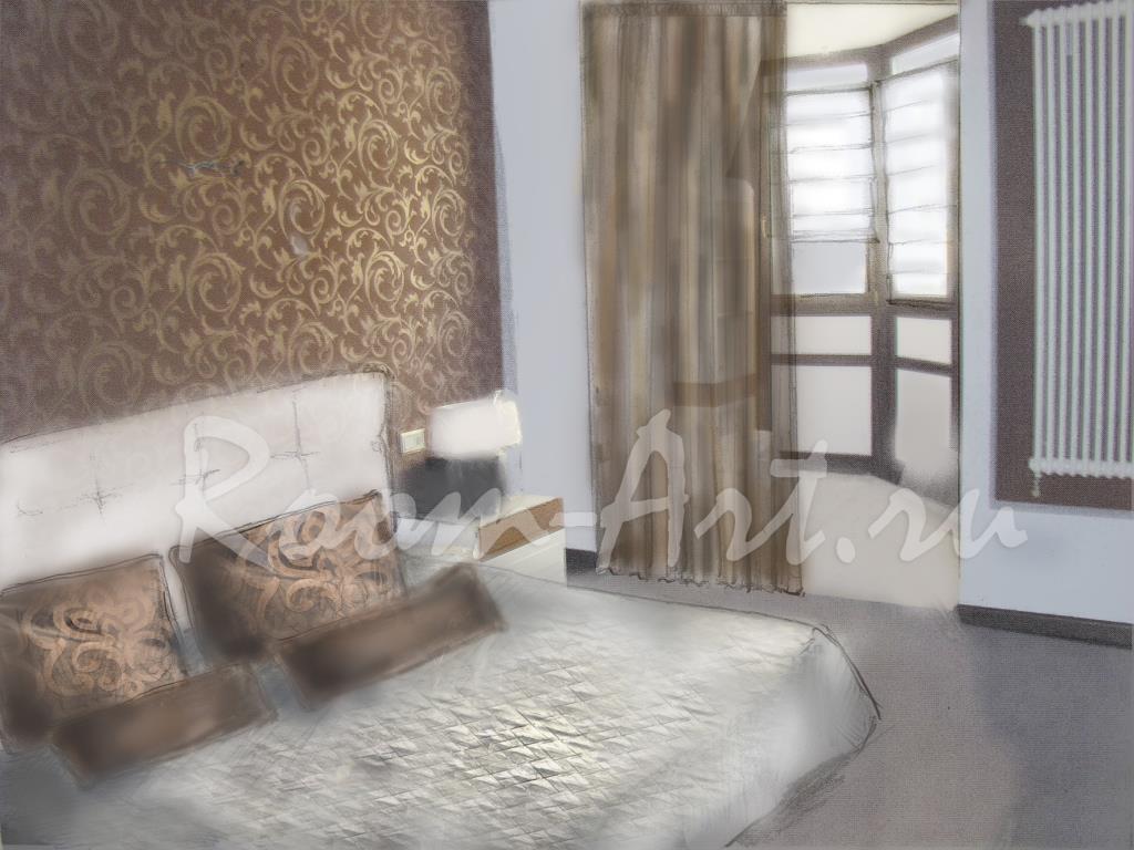 Room-Art: пример эскиза штор
