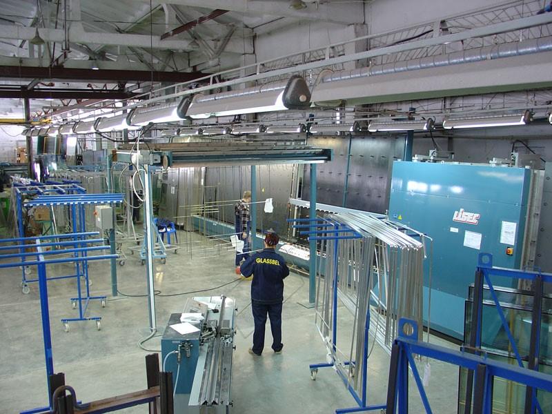 Цех по производству стекла