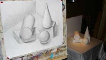 Графический рисунок геометрических тел