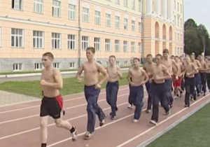 Физическая подготовка курсантов суворовских училищ