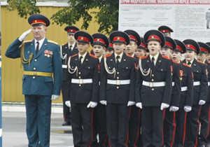Курсанты Казанского суворовского училища