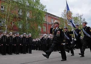 Марш в Кронштадтском морском корпусе