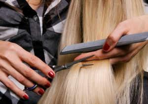 Стрижка белых женских волос