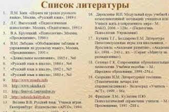 Список литературы автореферата