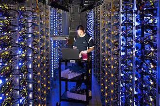 Девушка в серверной