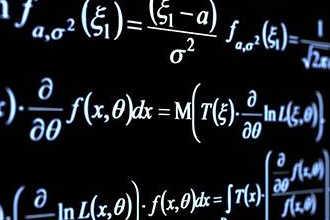 Математические формулы на черной доске