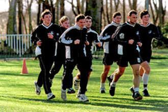 Тренировка футбольной команды