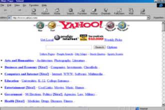 Первый сайт Yahoo