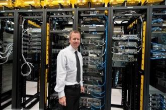 Рабочее место системного администратора крупной компании