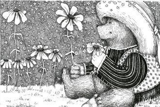 Графический рисунок детской тематики