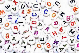 Набор различных букв