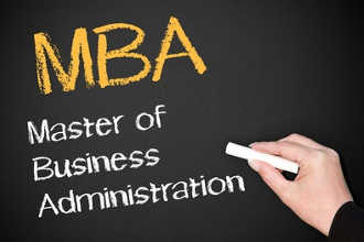 MBA написано на доске