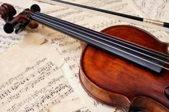 Скрипка и смычок