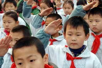 Школьники в Китае