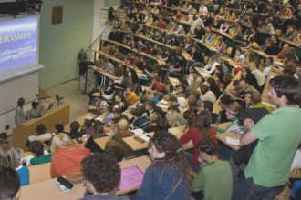Студенты на лекциях в чешском вузе