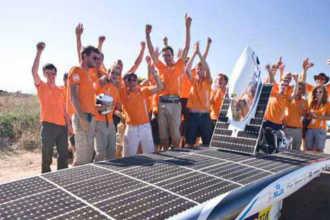 Голландские студенты сделали конструкцию из солнечных батарей