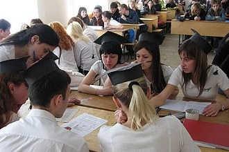 Студенты во Франции на занятиях