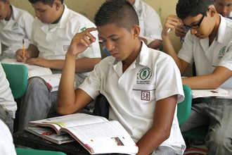 На уроках в Мексиканской школе