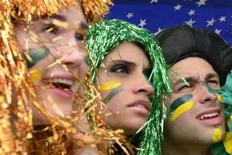 Во время бразильского карнавала