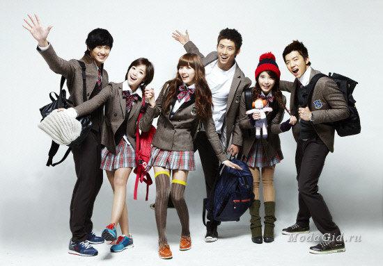 Ученики школы в Южной Корее