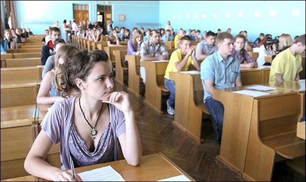 Студенты белорусского вуза на лекции