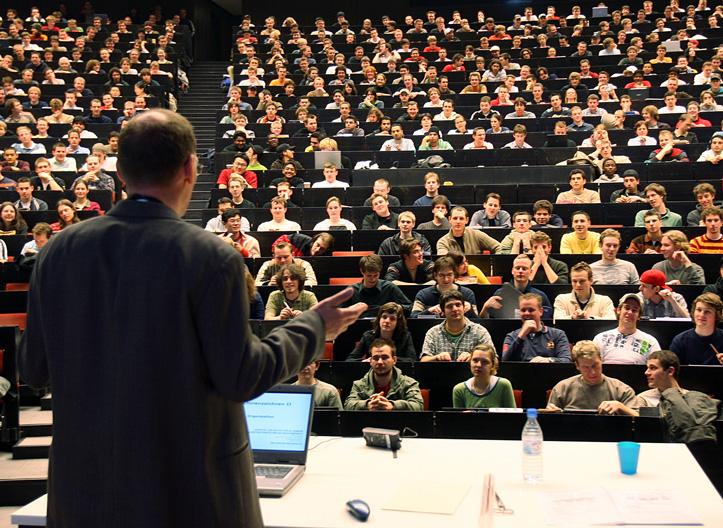 Немецкие студенты в аудитории вуза