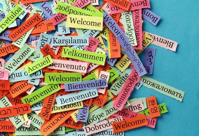Стикеры с иностранными словами