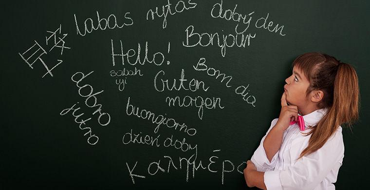 Ученица на уроке иностранного языка