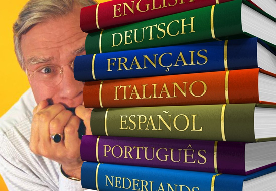 Стопка иностранных словарей