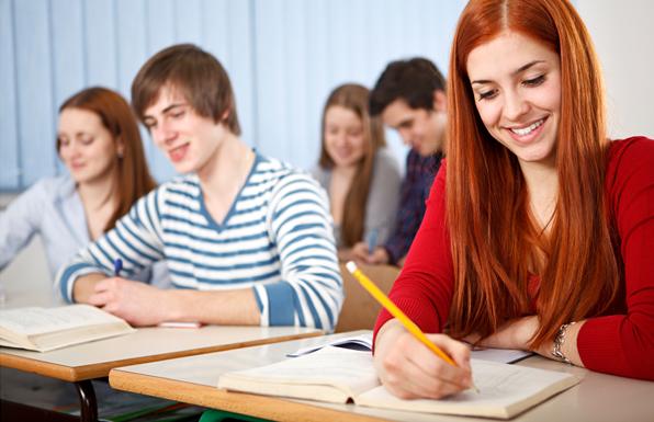 Учащиеся за занятиях