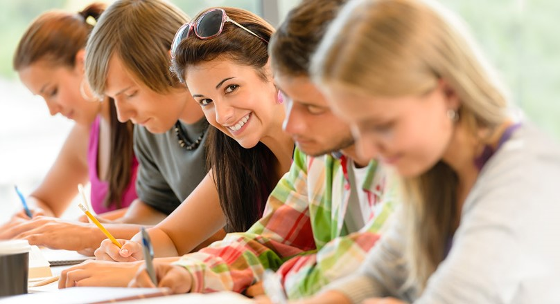 Группа студентов на лекции