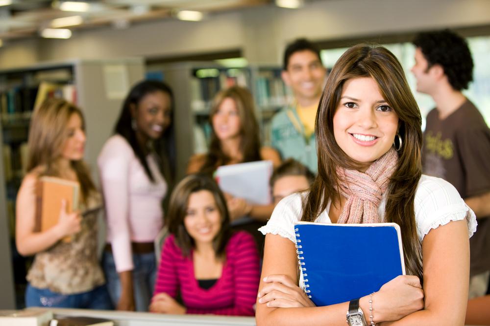 Группа студентов в рекреации института