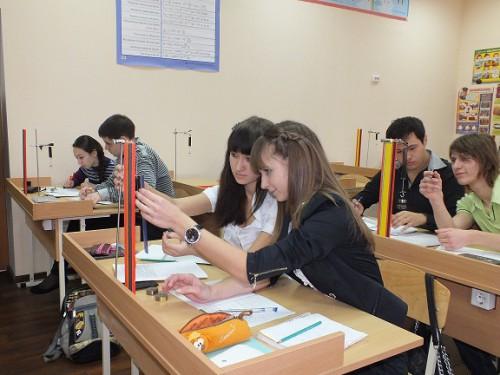 Урок физики в старших классах