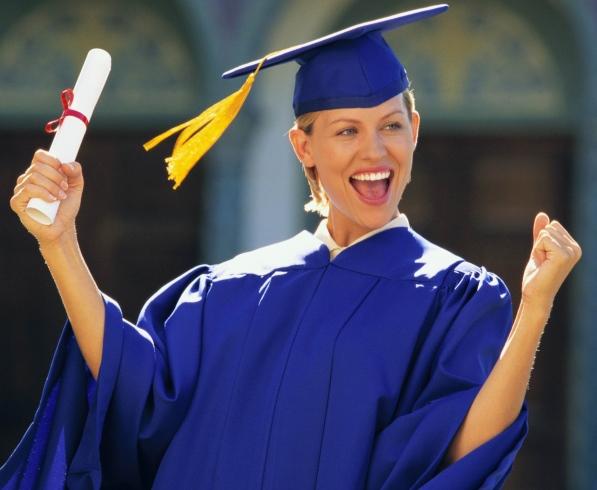 Радость от успешной сдачи экзамена