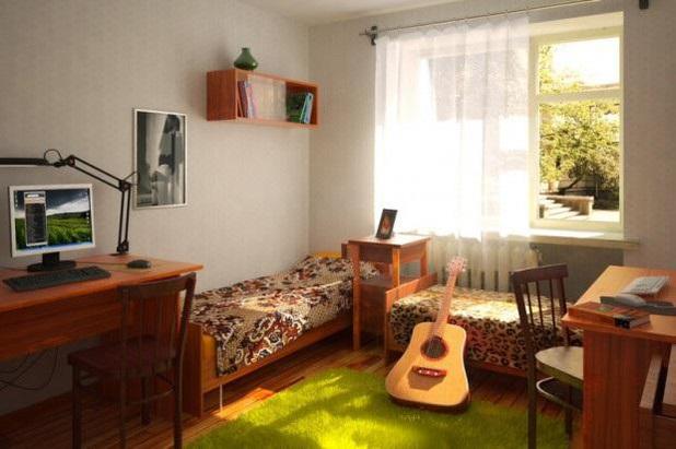 Интерьер комнаты вузовского общежития