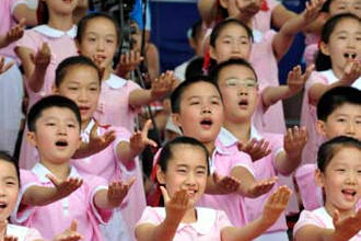 Дети в детском саду Китая