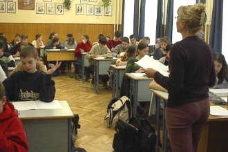 На занятиях в венгерской школе