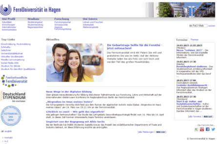 Главная страница университета Hagen