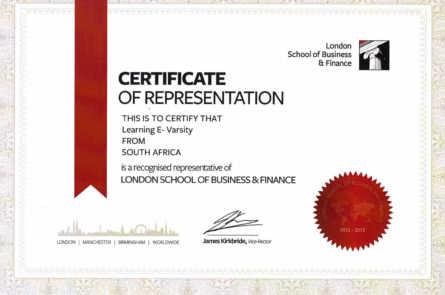 Сертификат Лондонской школы бизнеса