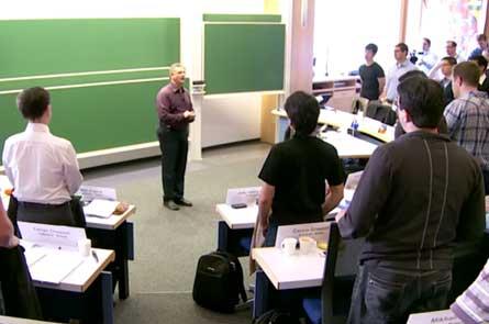 Встали во время лекции
