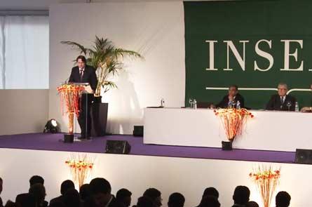 Выступление в актовом зале INSEAD