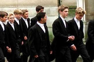 Школьники итонского колледжа