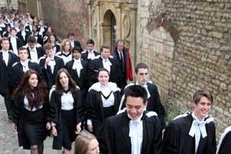 Парад выпускников Кембриджа