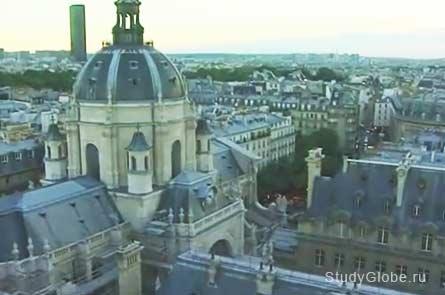 Фото здания Сорбонны в Париже
