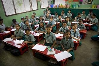 Дети в средней школе Индии